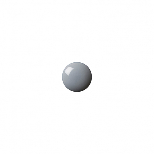 Schrankknopf oder Haken - Anne Black Porzellan - 30 x 30 mm - Thunder - Modell PLAIN