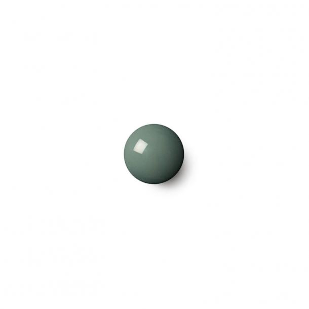 Cabinet knob or hook - Anne Black Porcelain - 30 x 30 mm - Petrol - Model PLAIN