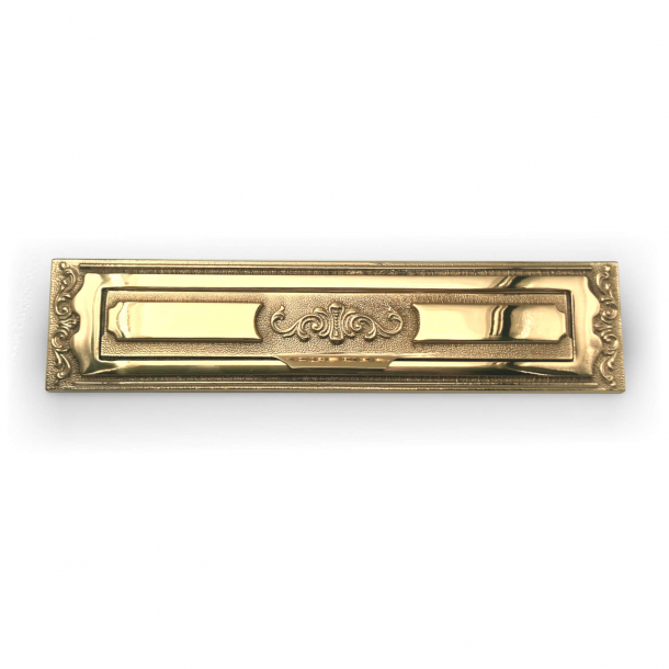 Letter frame with flap - Brass without lacquer - BAL - Model 1261 - 330 x 77 mm