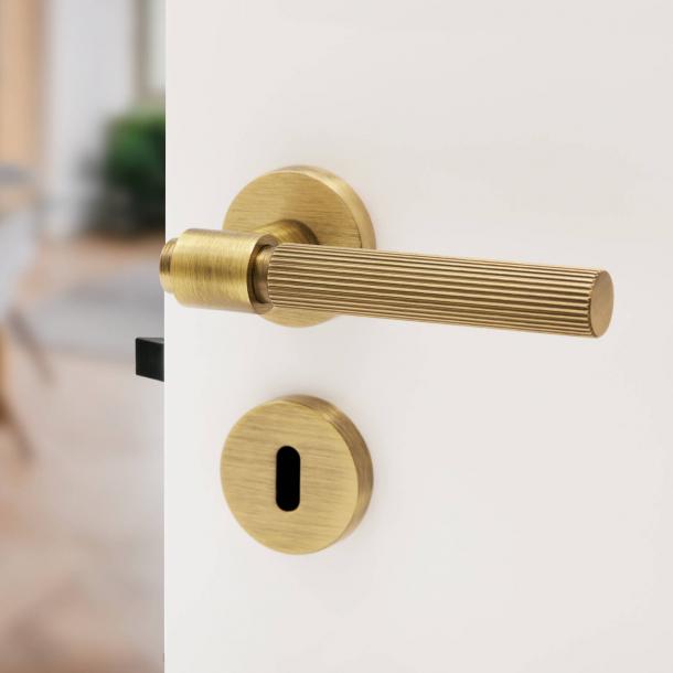 Beslag Design Door handle - Antique bronze - Model HELIX 200 STRIPE