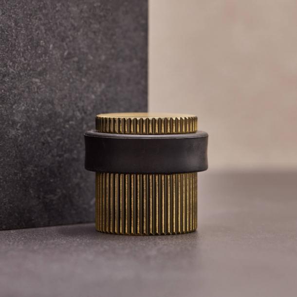 Beslag Design Door stopper - Antique bronze - Model Helix Stripe