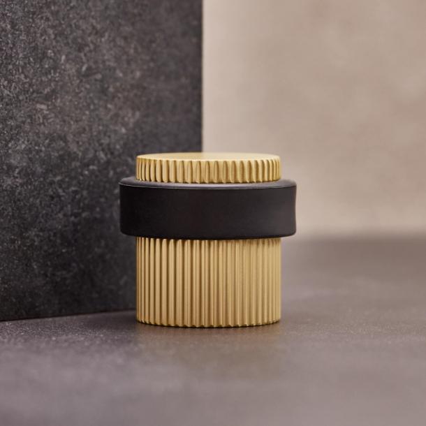 Beslag Design Door stopper - Brass - Model Helix Stripe