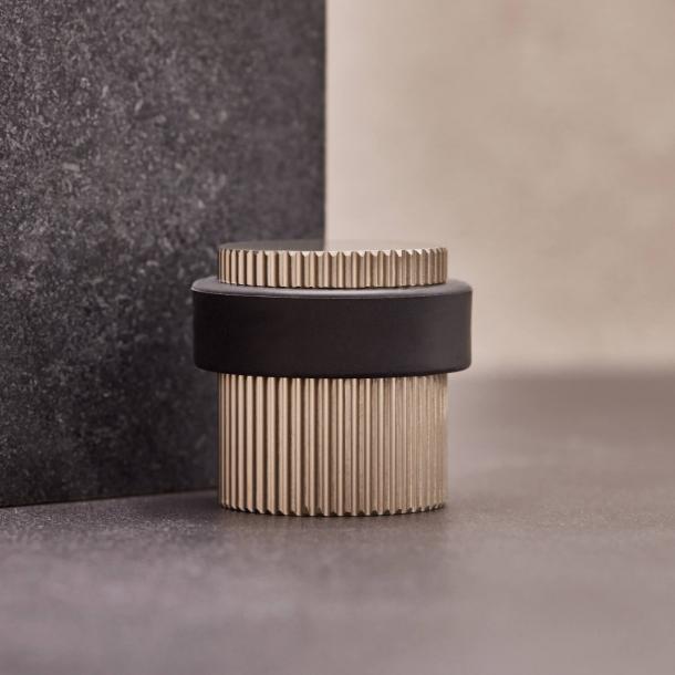 Beslag Design Door stopper - Stainless steel - Model Helix Stripe