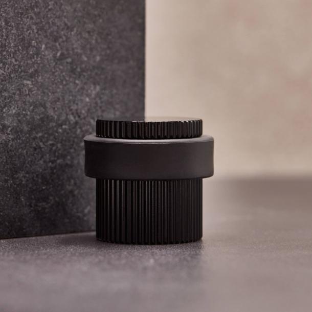 Beslag Design Door stopper - Black - Model Helix Stripe