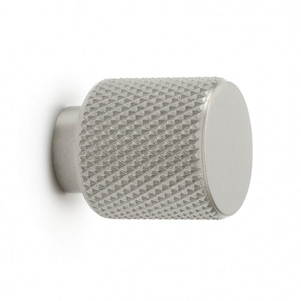 Cabine knob - Brushed steel - HELIX BUTTON - 20mm x 25mm