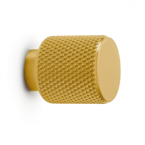Cabinet knob - Brass - BUTTON HELIX - 20mm x 25mm