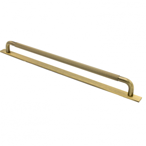 Cabinet handle - Bronze - HELIX with back plate - cc 320 mm