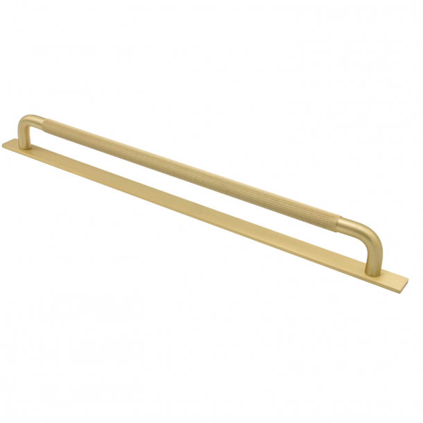 Furniture handle - Brass - HELIX with back plate - cc 320 mm