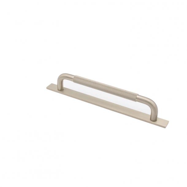 Møbelgreb - Rustfri stål - HELIX med bagplade - cc 160 mm