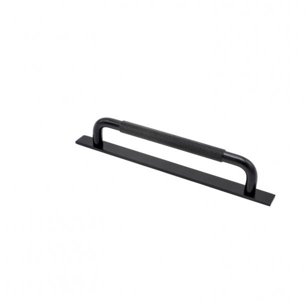Möbelhandtag - Matt svart - HELIX med bakplatta - cc 160 mm