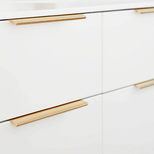 Furniture Handle - Brushed brass - EDGE STRAIGHT - 350 mm