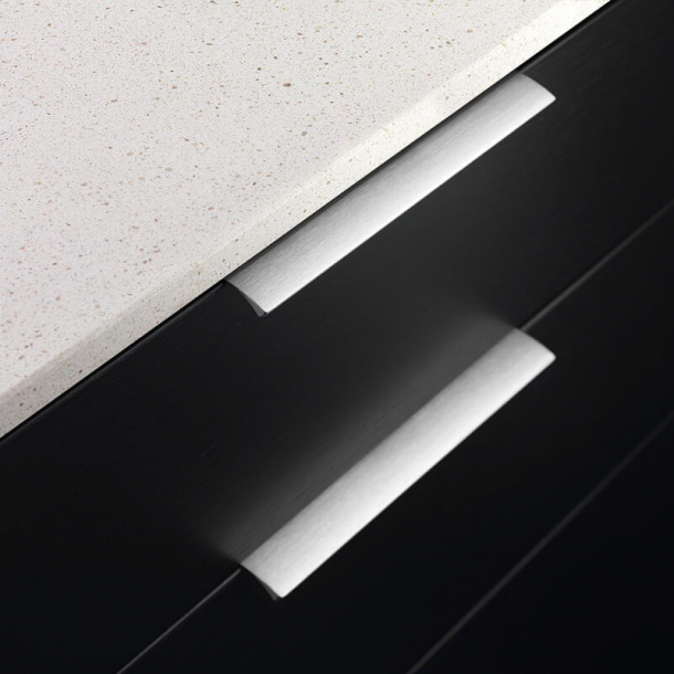 Furniture handle - Brushed steel - EDGE STRAIGHT - 200 mm