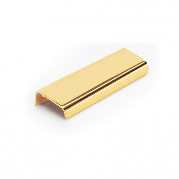 Furniture handle - Lacquered Brass - Model LIP - 120 mm