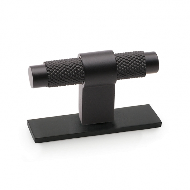 Cabinet handle - Matte black - PITCH with foot - 60 mm