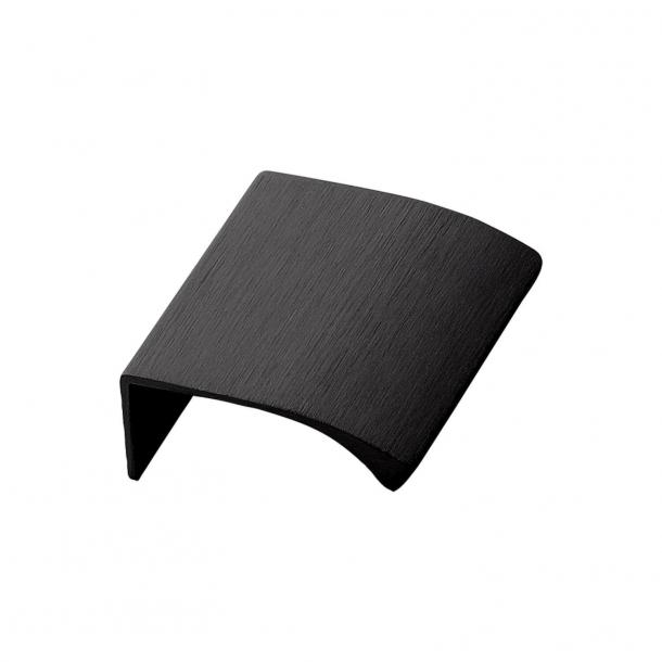 Furniture Handle - Brushed black - EDGE STRAIGHT - 40 mm