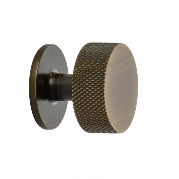 Cabinet knob - Antique bronze - CREST - 32mm x 28mm