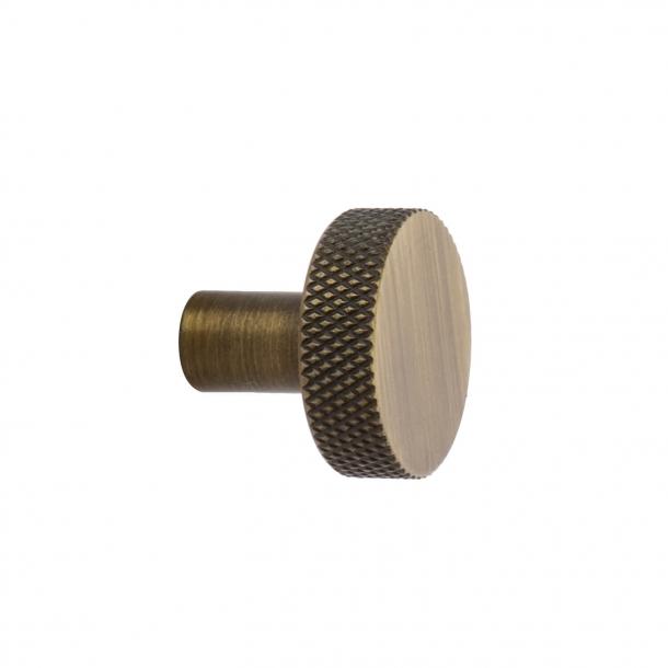 Cabinet knob FLAT - Antique bronze - 26 mm