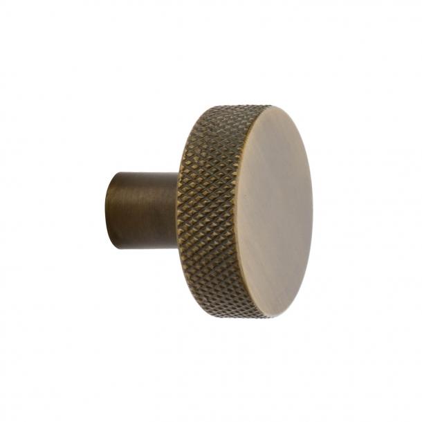 Furniture knob FLAT - Antique bronze - 32 mm