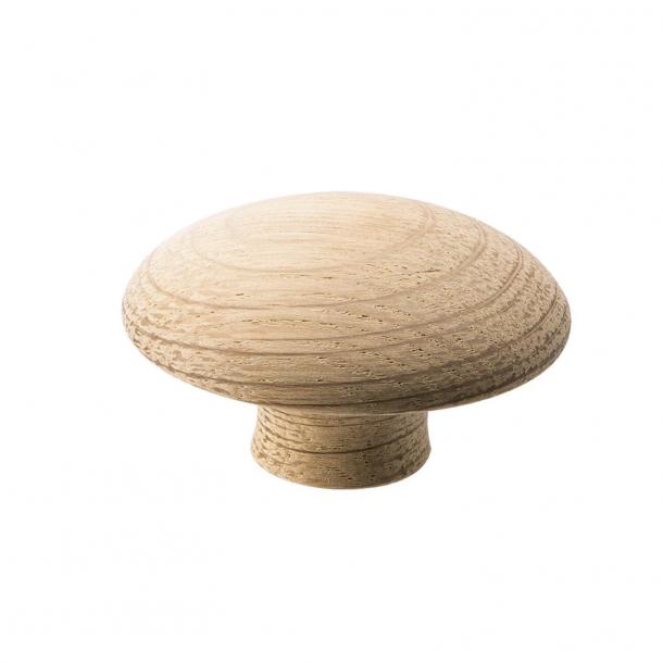 Furniture knob - Oak - MUSHROOM BUTTON - 50 mm