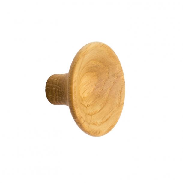 Furniture knob - Oak wood - TRUMPET- 38x23 mm