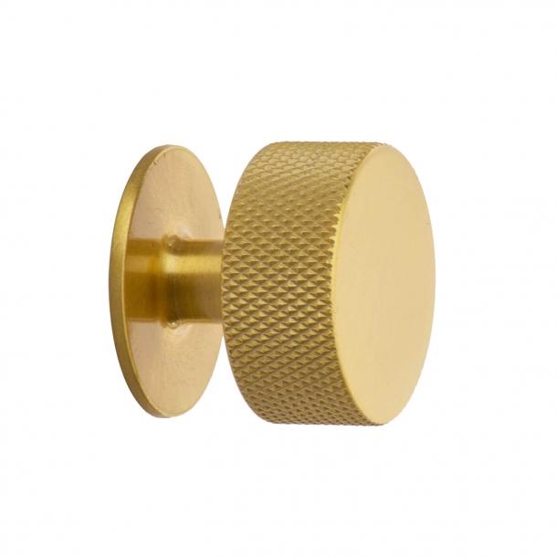 Furniture knob - Brass - CREST - 32mm x 28mm