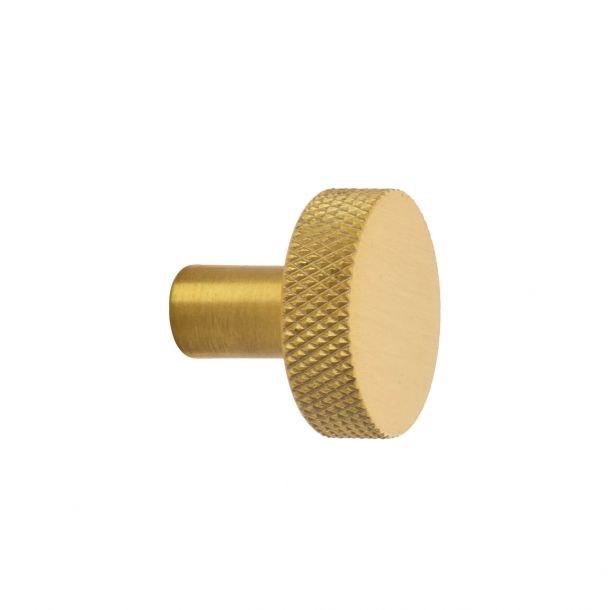 Cabinet knob FLAT - Brushed brass - 26 mm