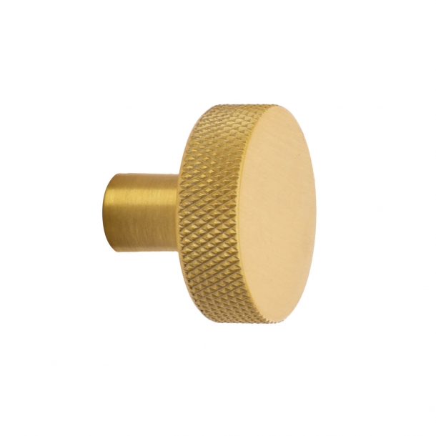 Cabinet knob FLAT - Brushed brass - 32 mm