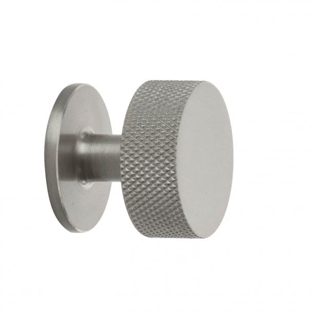 Möbelknopf - Gebürsteter Stahl - CREST - 32mm x 28mm