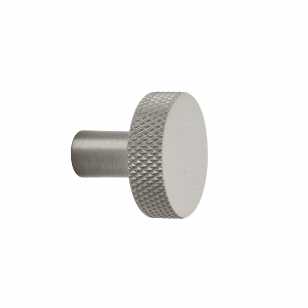 Cabinet knob FLAT - Brushed stainless steel - 26 mm