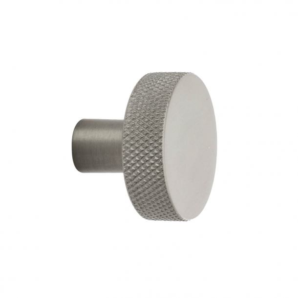 Møbelknop FLAT - Børstet rustfri stål - 32 mm