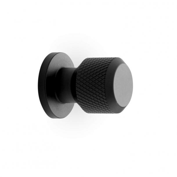 Møbelknop - Mat sort  - MANOR - 30 x 35 mm
