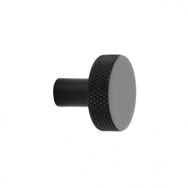 Möbelknopf FLAT - Mattschwarz - 26 mm