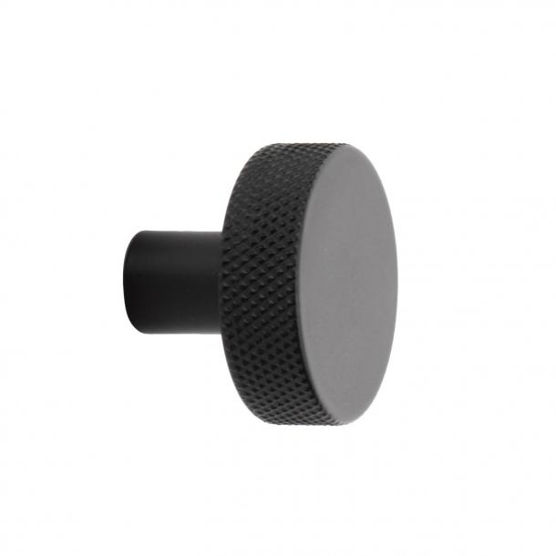 Møbelknop FLAT - Mat sort - 32 mm