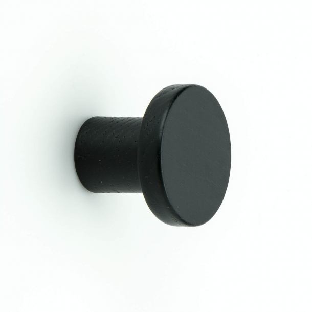 Møbelknop - Sort træ - KNOPP CIRCUM - 33 mm
