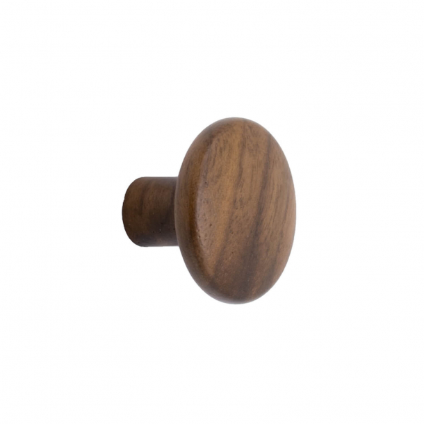 Furniture knob - Walnut - BRUTUS - 32x25 mm