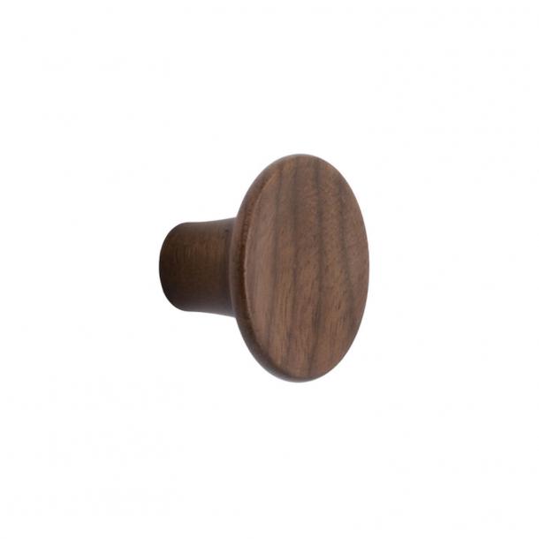 Furniture knob - Walnut wood - TUBA - 48x29 mm