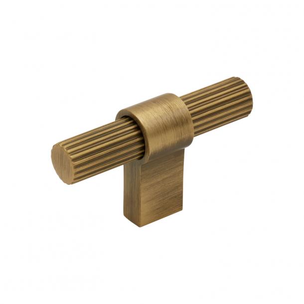 Beslag Design T-Bar Möbelgriff - Antike Bronze - Modell Helix Stripe