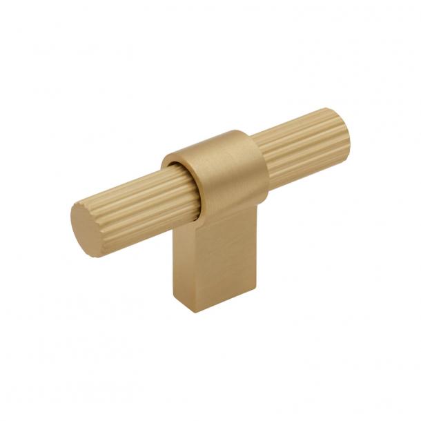 Beslag Design T-bar Cabinet handle - Brass - Model Helix Stripe