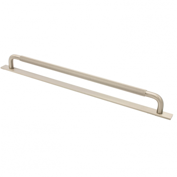 Furniture handle - Stainless steel - HELIX with back plate - cc 320 mm