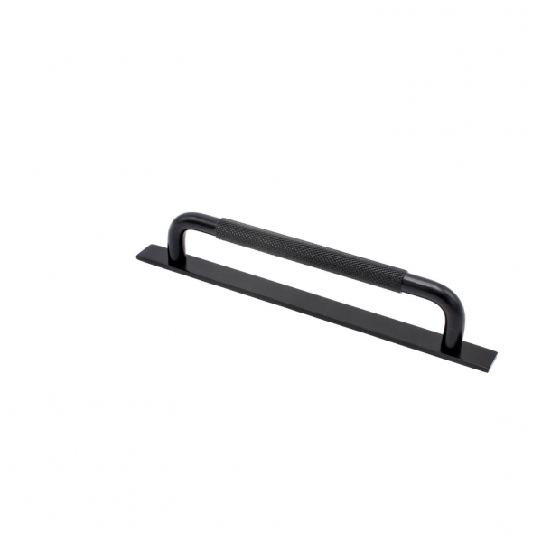 Cabinet handle - Matte black - HELIX with back plate - cc 160 mm
