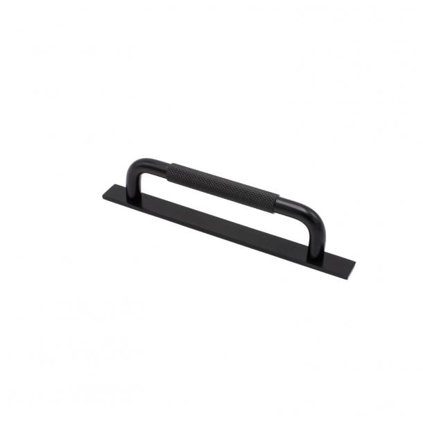 Møbelgreb - Mat sort - HELIX med bagplade - cc 128 mm