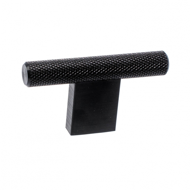 Gałka do mebli - T - Czarna - 10 x 60 mm