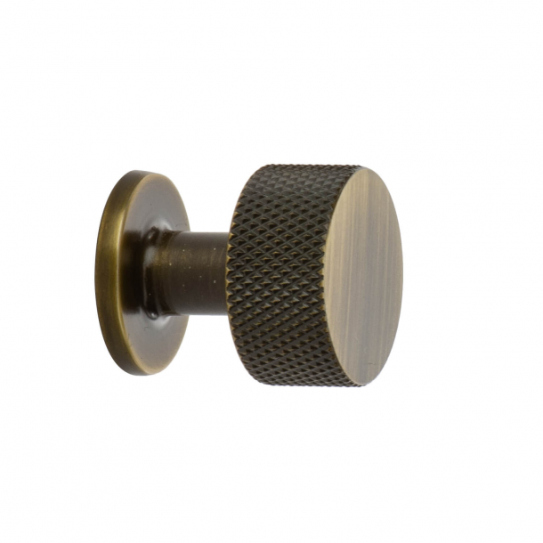 Gałka do mebli - Brąz antyczny - Crest - 26 mm x 28 mm