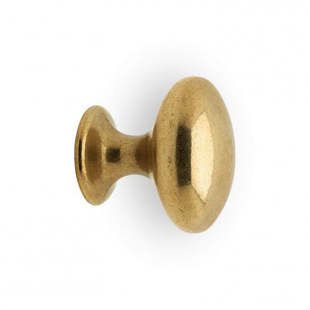 Møbelknop 401 - Mat messing - 29 mm