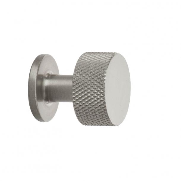 Gałka do drzwi - Stal szczotkowana - Crest - 26 mm x 28 mm