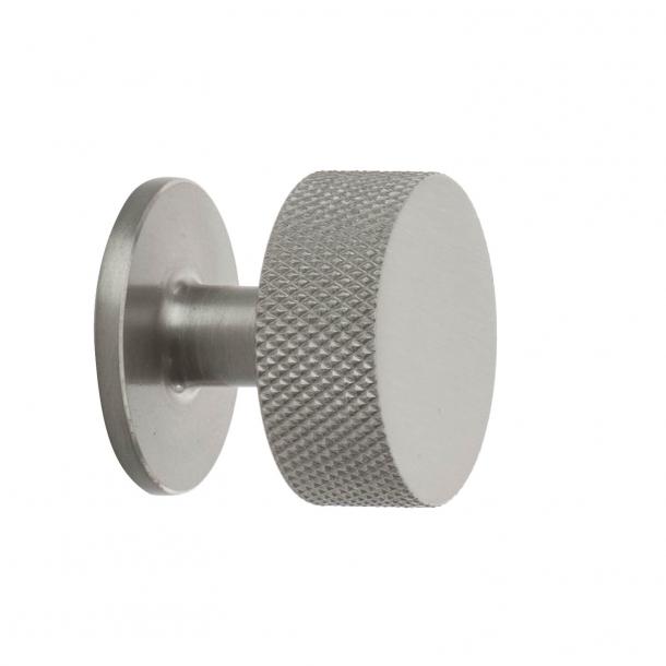 Gałka do mebli - Stal szczotkowana - Crest - 32 mm x 28 mm