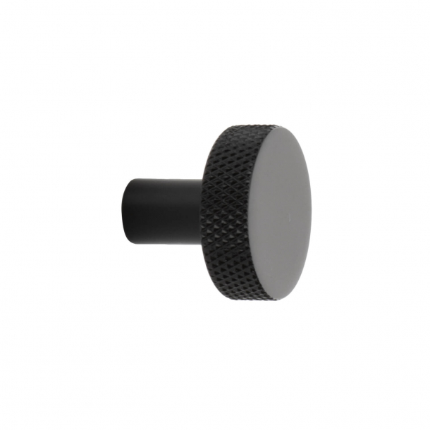 Gałka do mebli Flat - Czarny mat - 26 mm
