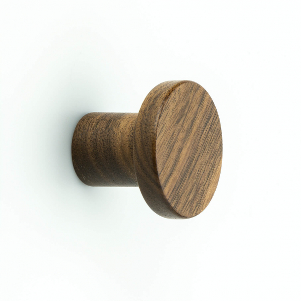 Cabinet knob - Walnut wood - BUTTON CIRCUM - 33 mm