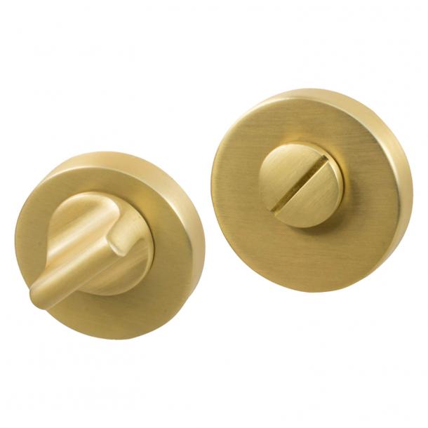 Privacy lock - Brushed brass - Beslag Design - HELIX