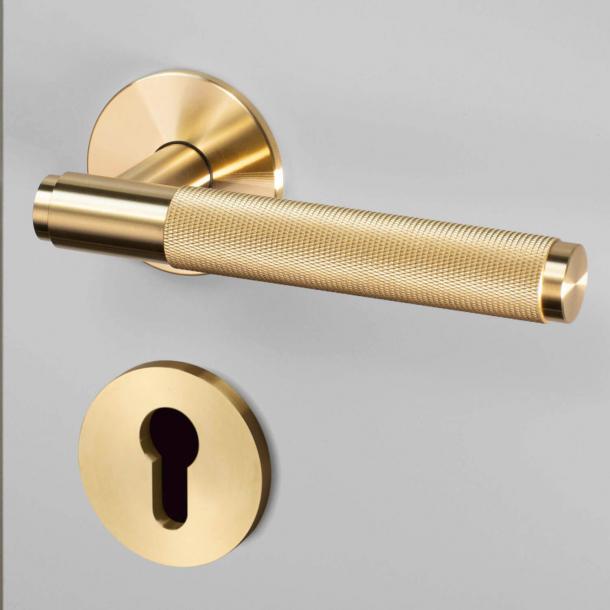 Buster+Punch Türgriffe & Profilzylinderring - Industrielles Design - Messing - cc38mm